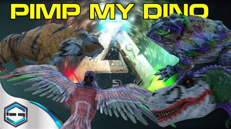 ark survival evolved how to war paint pimp my dino