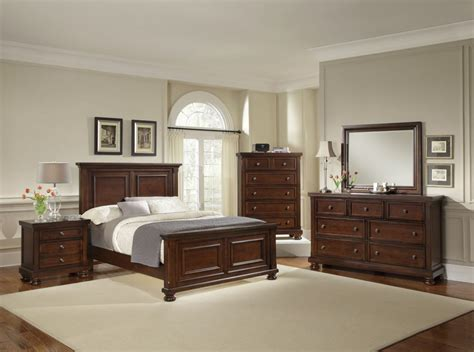 mansion bedroom furniture all american reflections mansion bedroom set in dark cherry