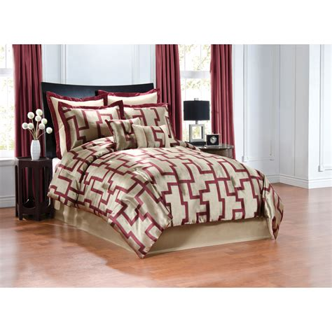 burgundy comforter queen shop peninsula suites cream and burgundy queen polyester