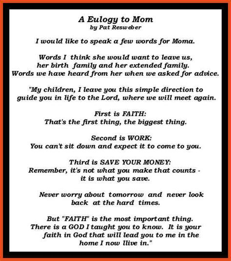 Eulogy Template by Eulogy Template For 28 Images Eulogy Speech