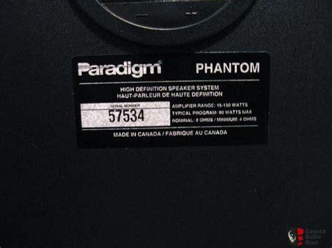 The Phantom Paradigm paradigm phantom v1 large bookshelf speakers photo 296805