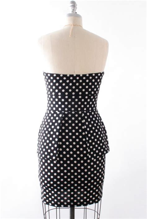 Peplum Polkadot dress hourglass amusement polka dot peplum dress in