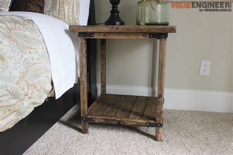 diy bedroom table simple square side table free diy plans rogue engineer