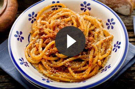 how to make food how to make bucatini all amatriciana italy food roots