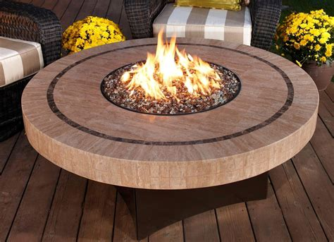 Patio Tables With Gas Fire Pits Home Improvement Gas Firepit