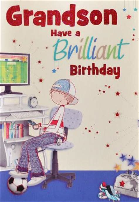 printable birthday cards grandson grandson birthday card