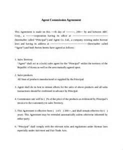 commission letter template sle commission sales agreement template 8 free
