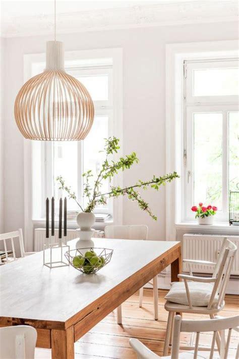 modern white esszimmertisch holz esszimmertisch mit st 252 hlen wei 223 pendelleuchten design
