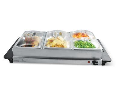 Aldi Us Kitchen Living Buffet Server With Warming Tray Buffet Server And Warming Tray