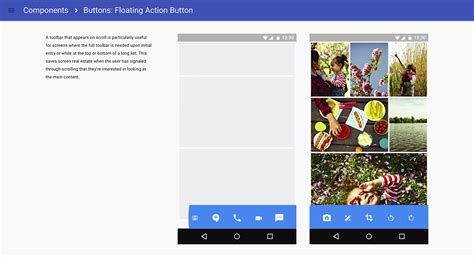 android studio layout clickable google updates material design spec with dedicated fab
