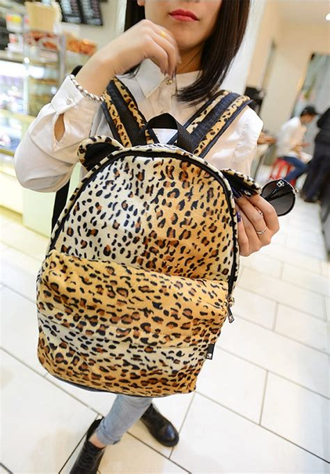tas ransel wanita leopard lucu model terbaru jual