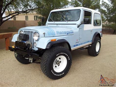 vintage jeep renegade 1979 jeep cj7 renegade rare arizona survivor amazing