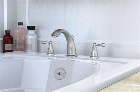nickel bathtub faucet com 86440srn in spot resist brushed nickel by moen