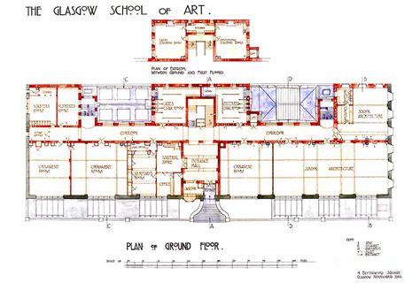 Online Building Plan charles rennie mackintosh glasgow school of art plan of