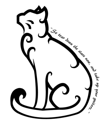 tribal outline tattoo designs cat images designs