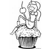 Princesa Jujuba Com Cupcake — Colorirorg