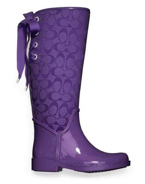 purple boots purple coach boot the color purple