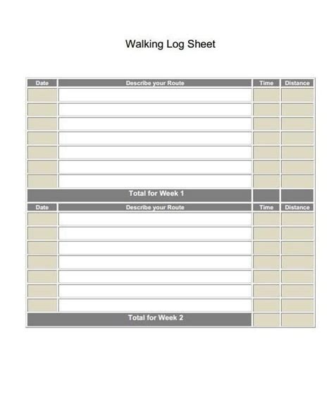 printable walking journal walking log sheet new calendar template site