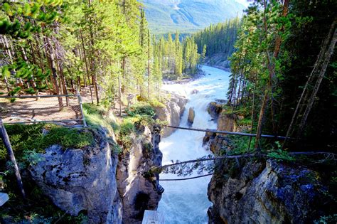 sunwapta falls travel trip journey sunwapta falls canada