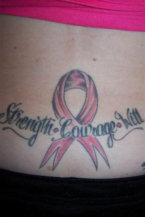 tattoo designs for strength and courage strength and courage ribbon
