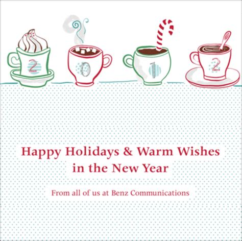 happy holidays and warm wishes in the new year benz