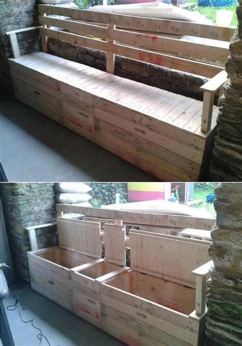pallet bench ideas outdoor storage bench www summitfunding net roseville