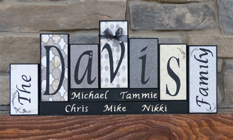 Decorative Letter Blocks by Marvelous Decorative Letter Blocks 9 Family Name Block