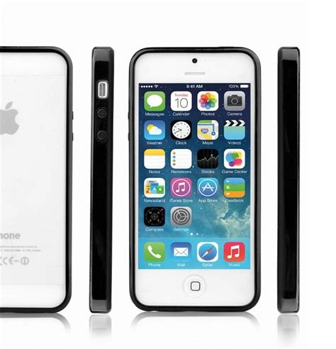 Iphone 5 5s Se Casing Cover Bumper Backcase Kuat Pc iphone 5 5s se apple bumper with clear gloss back free screen protector ebay