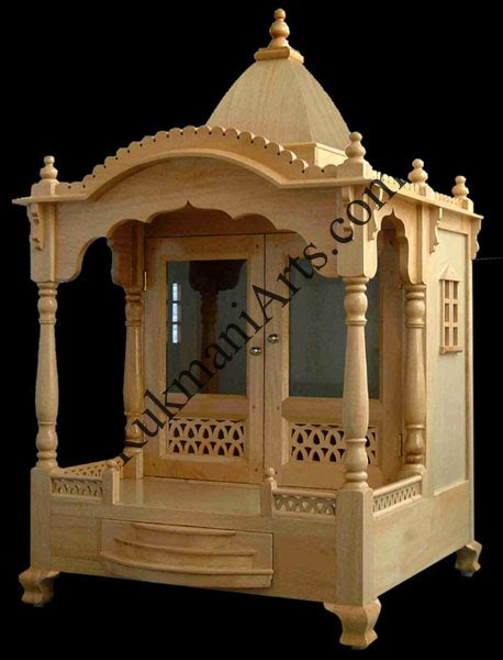 Code 35 Wooden Carved Teakwood Temple Mandir Wooden Temple Wooden Temple Mandir
