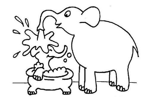 preschool coloring pages elephant elephant coloring pages for kids preschool and kindergarten