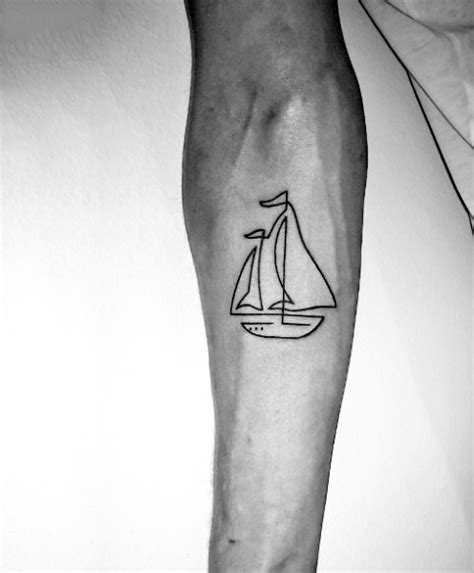 easy homemade tattoo ink simple homemade black ink little ship tattoo on arm
