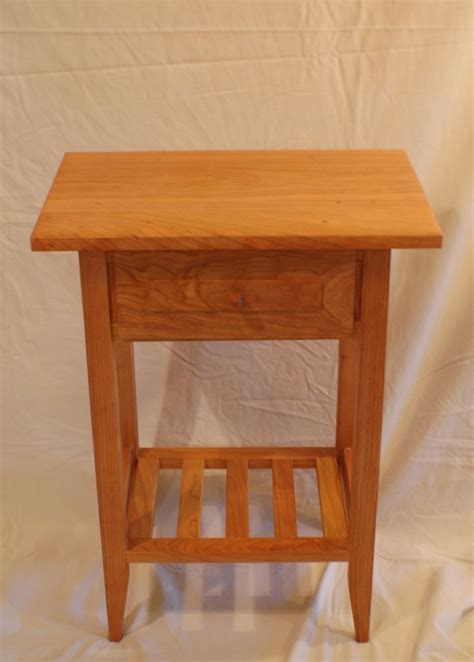 shaker style end table buy a handmade cherry shaker style nightstand end table