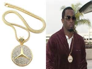 Mercedes Chain Mens Iced Out Mercedes Pendant Chain Necklace Lab