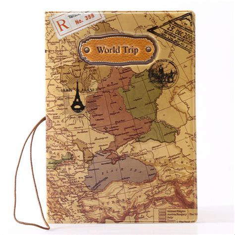 Passport Cover Map Edition novetly world map map travel passport holder cover document folder travel identity id card