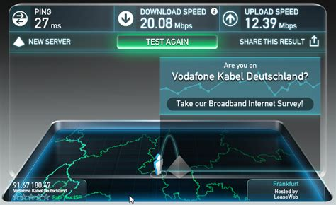 global speed test only 20 mbit s utm120 on a 200 mbit s cable line