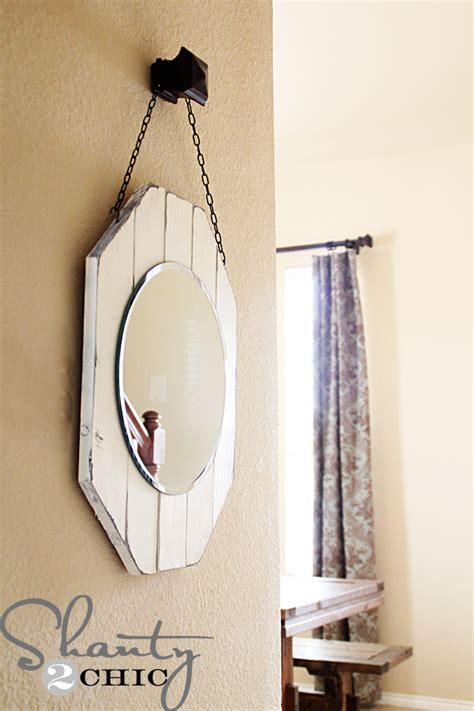 diy mirror diy wooden mirror shanty 2 chic