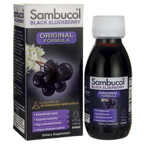 Sambucol Black Elderberry Original Formula 230ml For 4 Years And sambucol black elderberry original formula syrup 4 fl oz