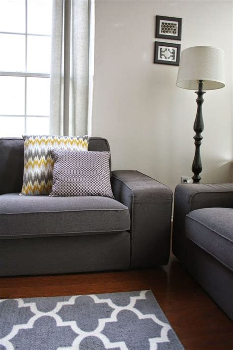 yellow sofa dark pillows dark rug grey cabinet and black 242 best images about home d 233 cor on pinterest walk in