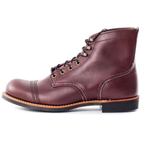 oxblood mens boots wing iron ranger 8119 mens boots in oxblood