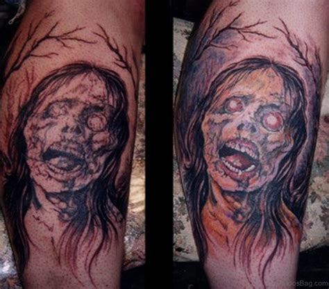 zombie girl tattoo designs 51 horror tattoos for leg