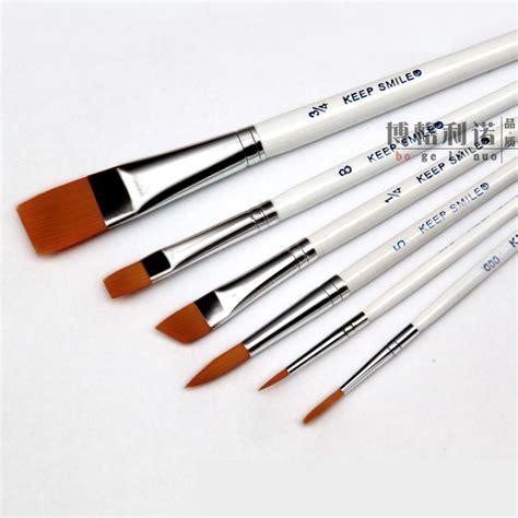 6pcs Set Hair White Pole Multifunction Paint Brush
