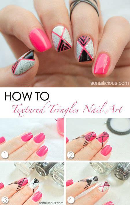 nail art triangle tutorial textured triangles nail art nails bellashoot
