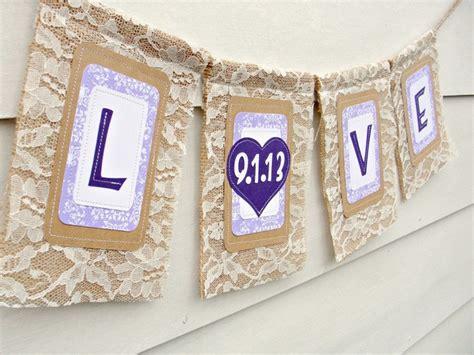 Lace Wedding Banner by Wedding Garland Date Lace Bunting Burlap Wedding