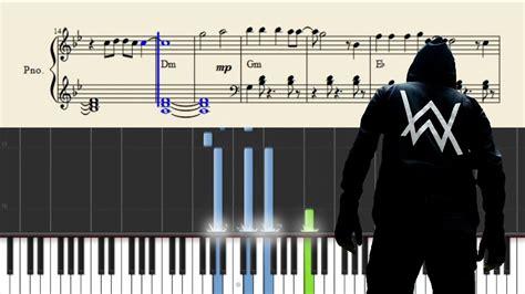 alan walker alone chord alan walker alone piano tutorial sheets chords