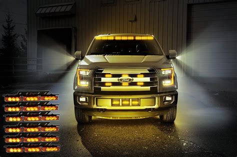 police lights for car grill zone tech 54 led emergency car strobe light bars warning