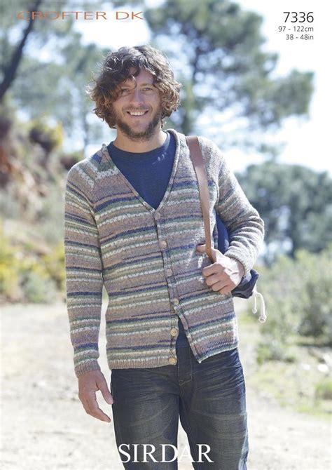 sirdar mens knitting patterns sirdar 7336 knitting pattern mens v neck cardigan in