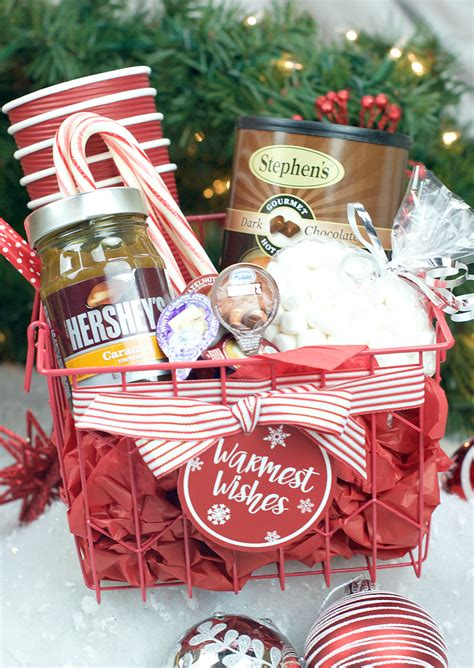 hot chocolate gift basket  christmas fun squared