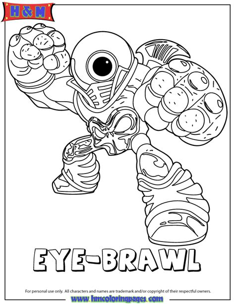 coloring page tree rex skylanders giants undead eye brawl coloring page hm