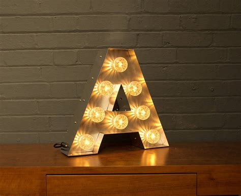 m and m lighting light up marquee bulb letters a to z by goodwin goodwin
