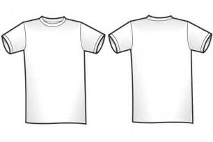White T Shirt Template Front And Back by Blank T Shirt Template For Colouring Clipart Best